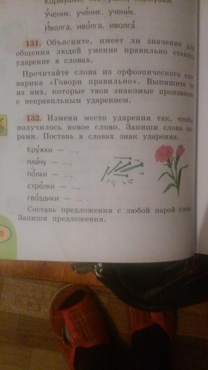 Упражнения 132 по русскому?