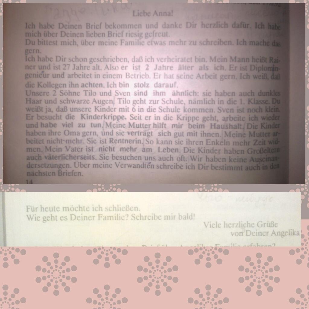 Перескажите кратко текст на немецком от 3 лица, хотя бы часть?