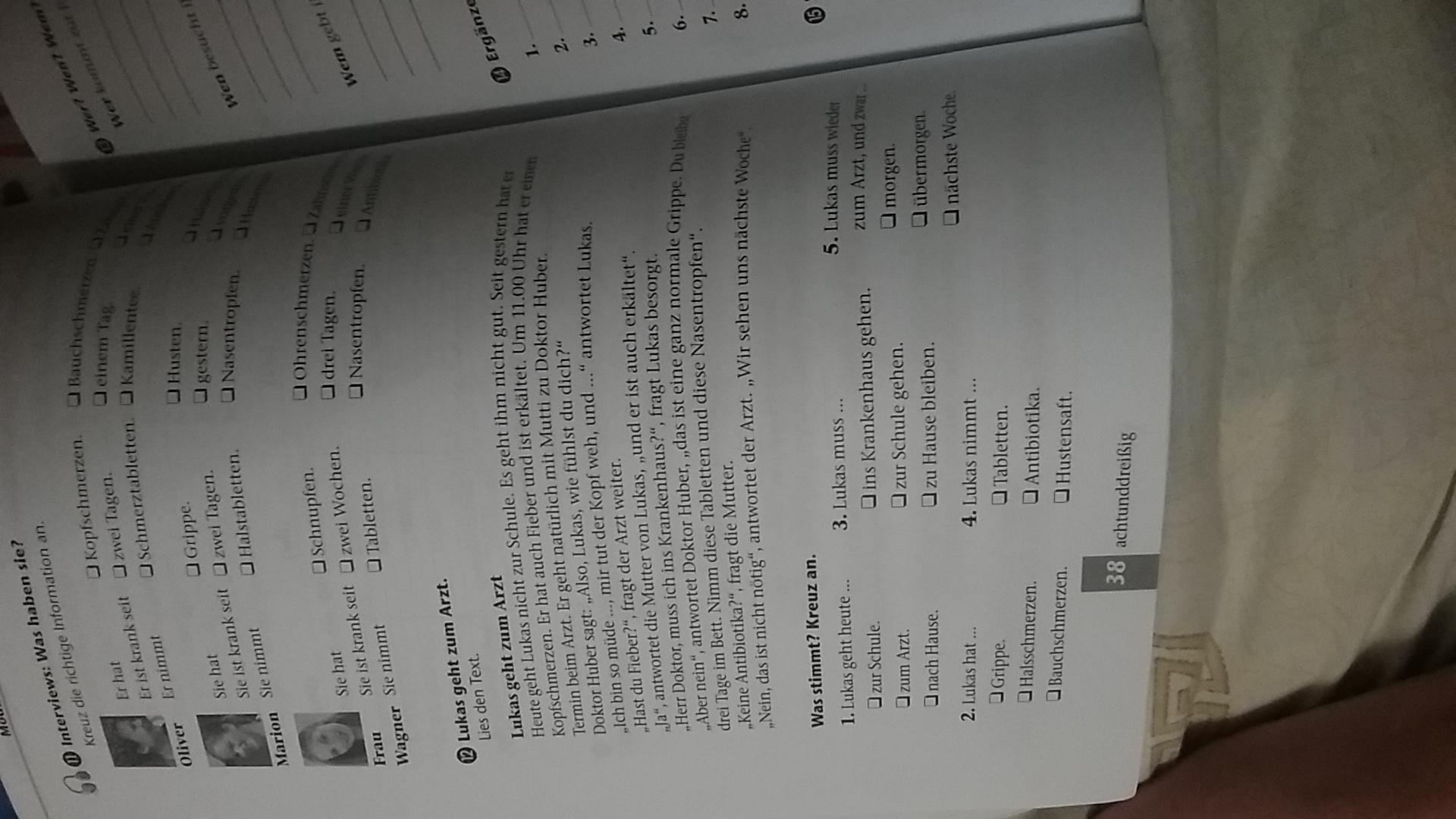 Помогите немецкий 6 клас книжка вир?