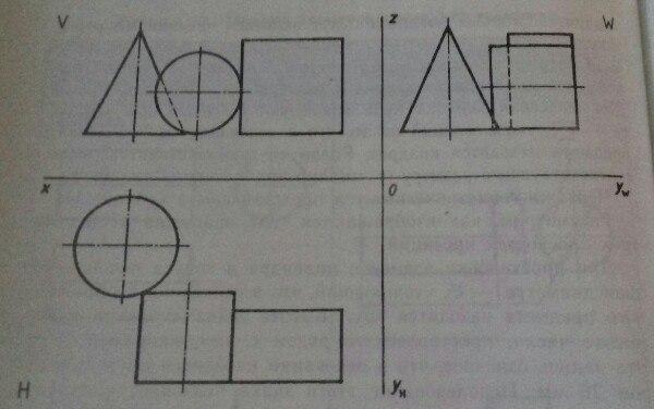 Какие геометрические тела изображены на чертеже?