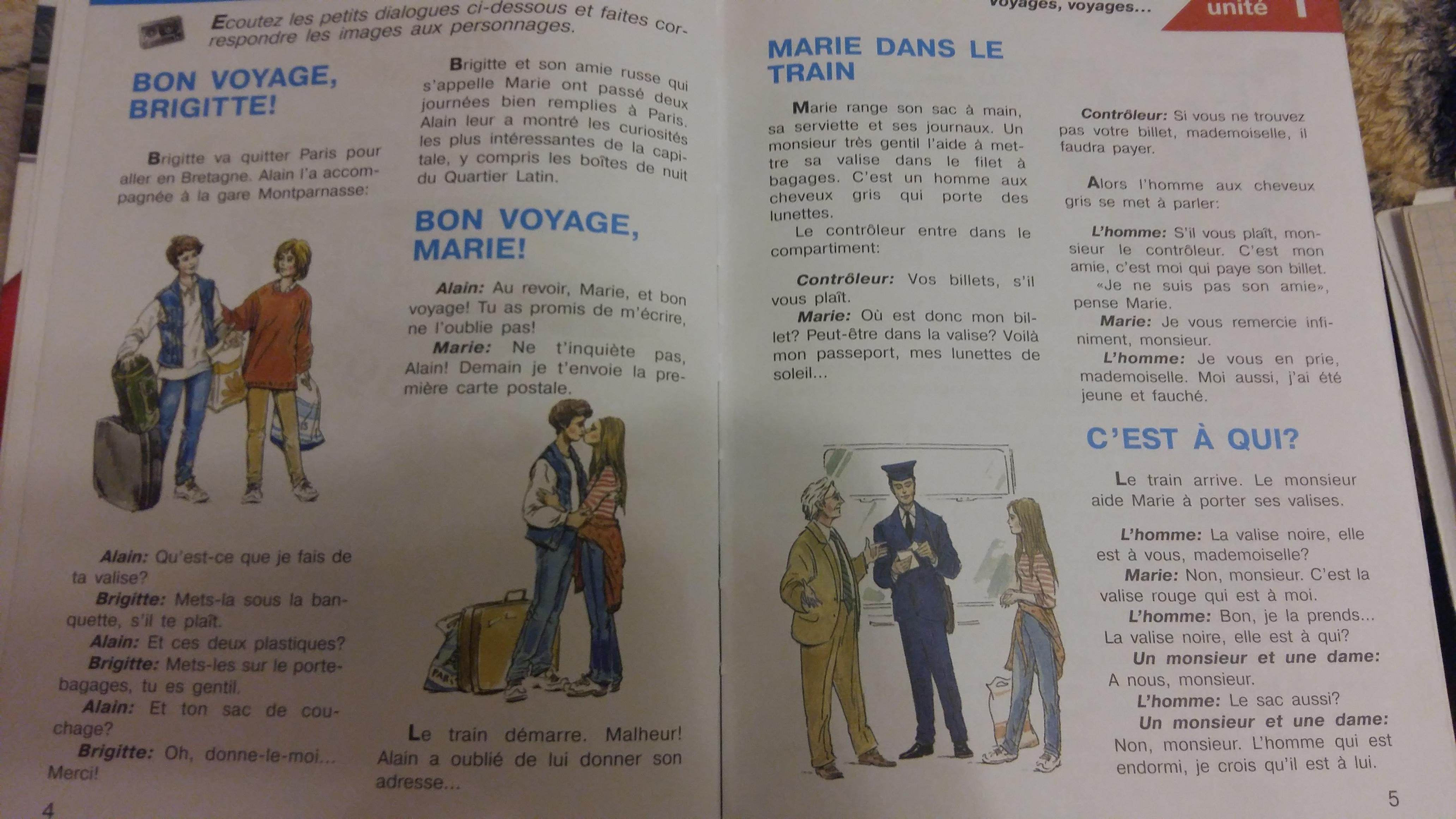 Французский язык : Напишите пожалуйста пересказ данного диалога?