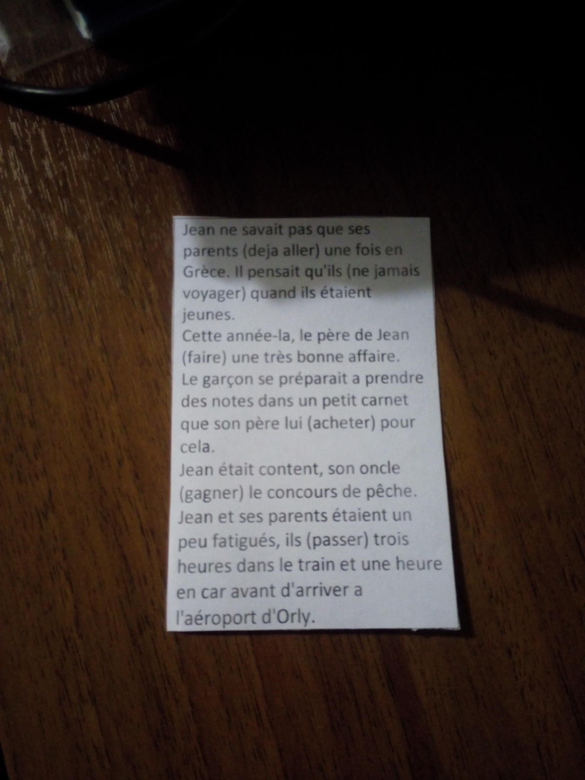 Глаголы в скобках нужно поставить в партиси пассе?