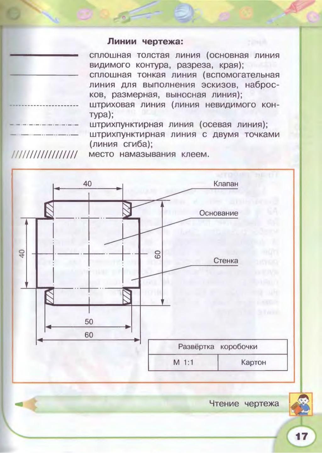 Определить и записать согласно чертежа : длину клапана, основания, стенки (в мм)?