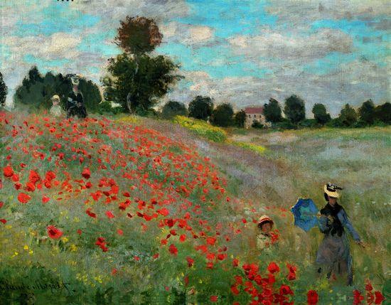 """ПОМОГИТЕ описать картину Claude Monet """"Coquelicots"""" на французском языке?"""