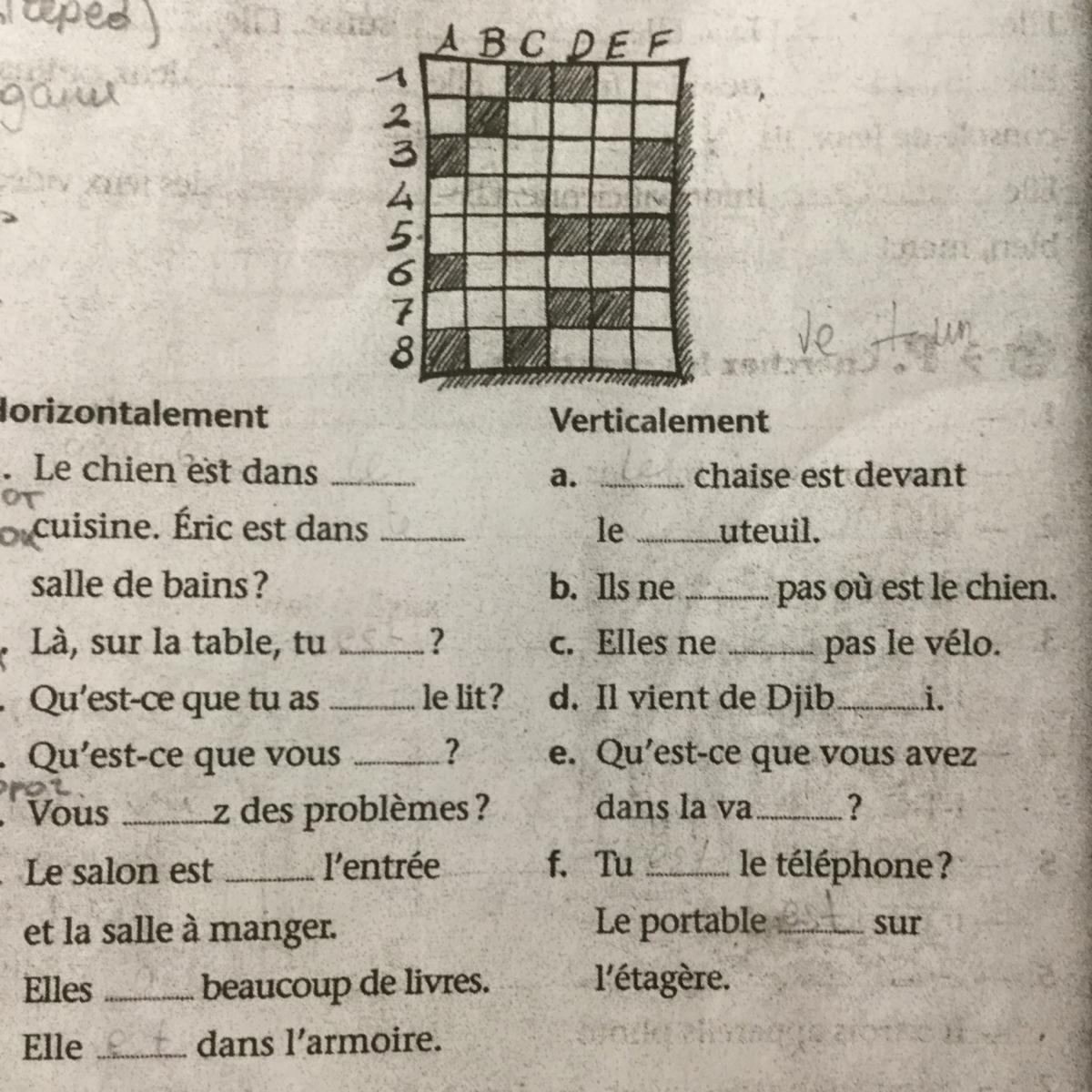 Помогите с французским?