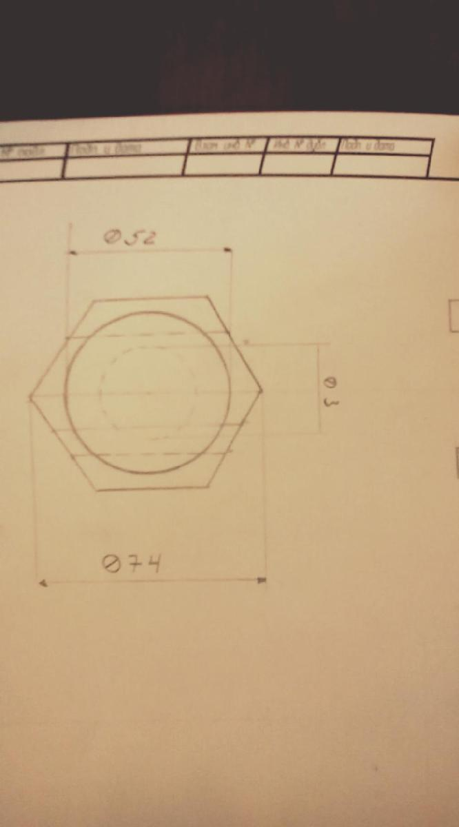 Помогите начертить аксонометрическую проекцию детали и разрез, зараннее спасибо?