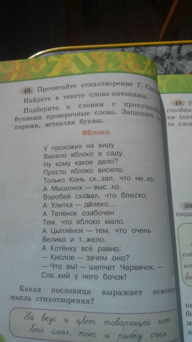 прочитайте стихотворение вслух объясните его название зеленые стихи дней череде сплошных