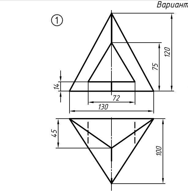 Помогите построить проекцию слева?