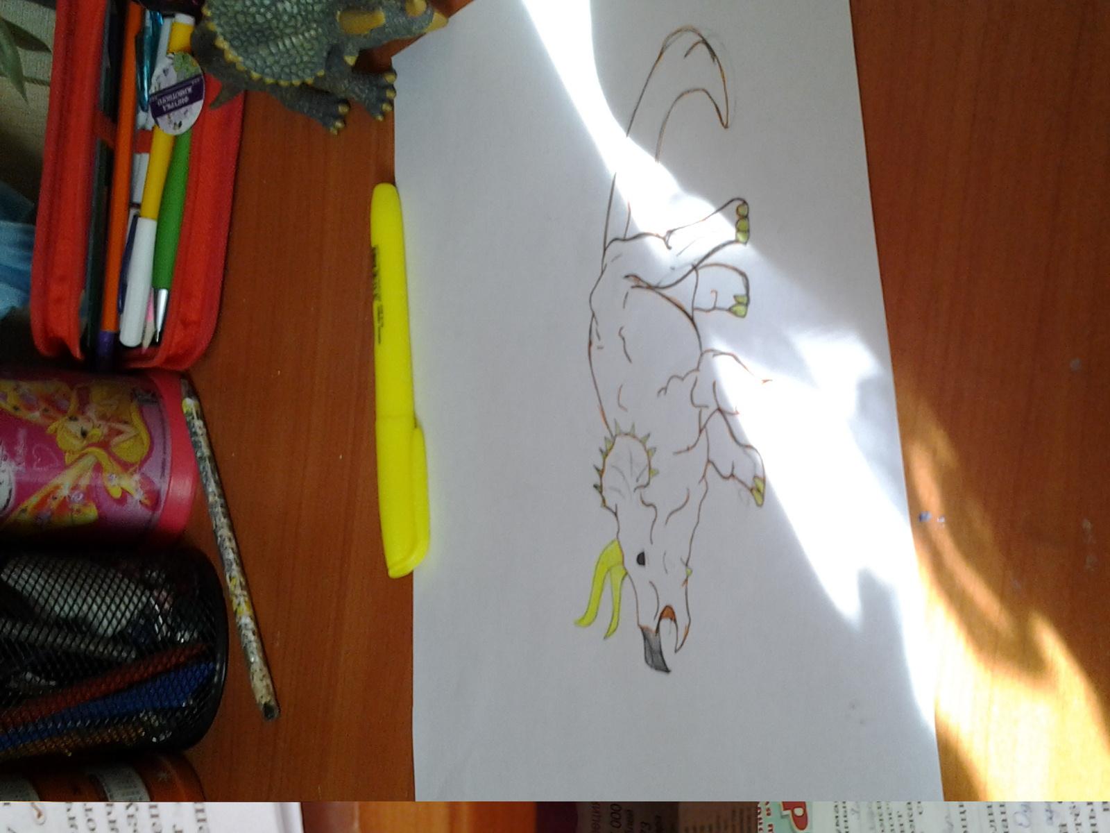 Помогите нарисовать фон этому динозавоу?