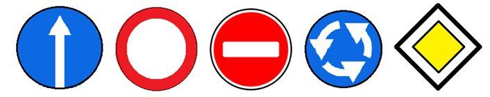 Какой из следующих дорожных знаков не имеет оси симметрии?