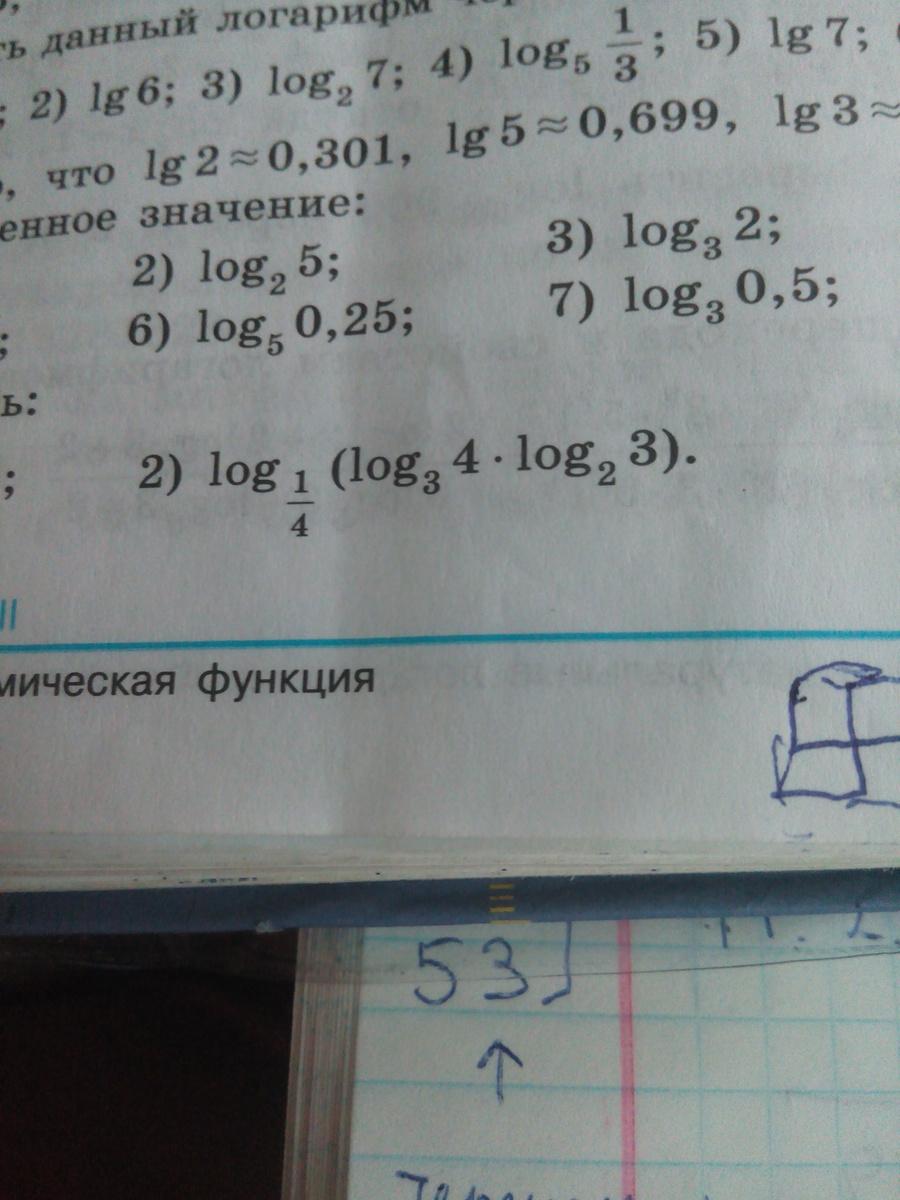Логарифмы?