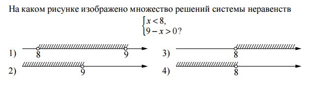 На каком рисунке изображено множество решений системы неравенства (С полным решением пожалуйста )?