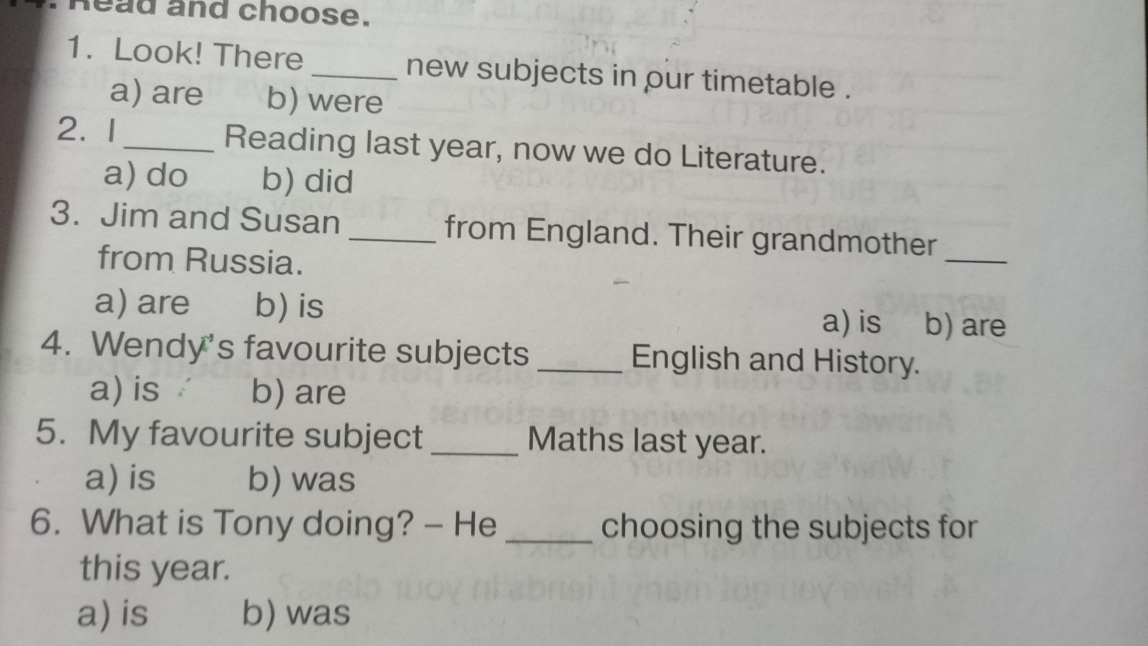 Помогите а Английским языком, у кого он есть 5 - класс - Английский в фокусе?
