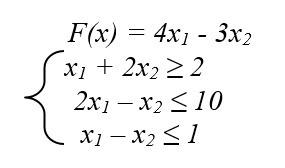 Найти максимум и минимум функции F(x) при заданных ограничениях графическим методом ?