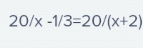 Решите уравнение 1 уравнение?