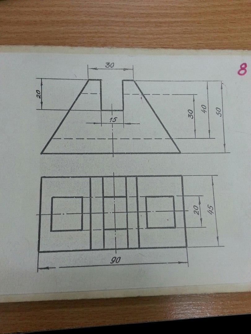 Помогите пожалуйста нужно построить проекцию очень срочно?