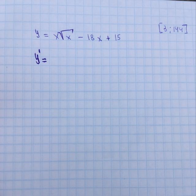 Найти наименьшее значение функции?