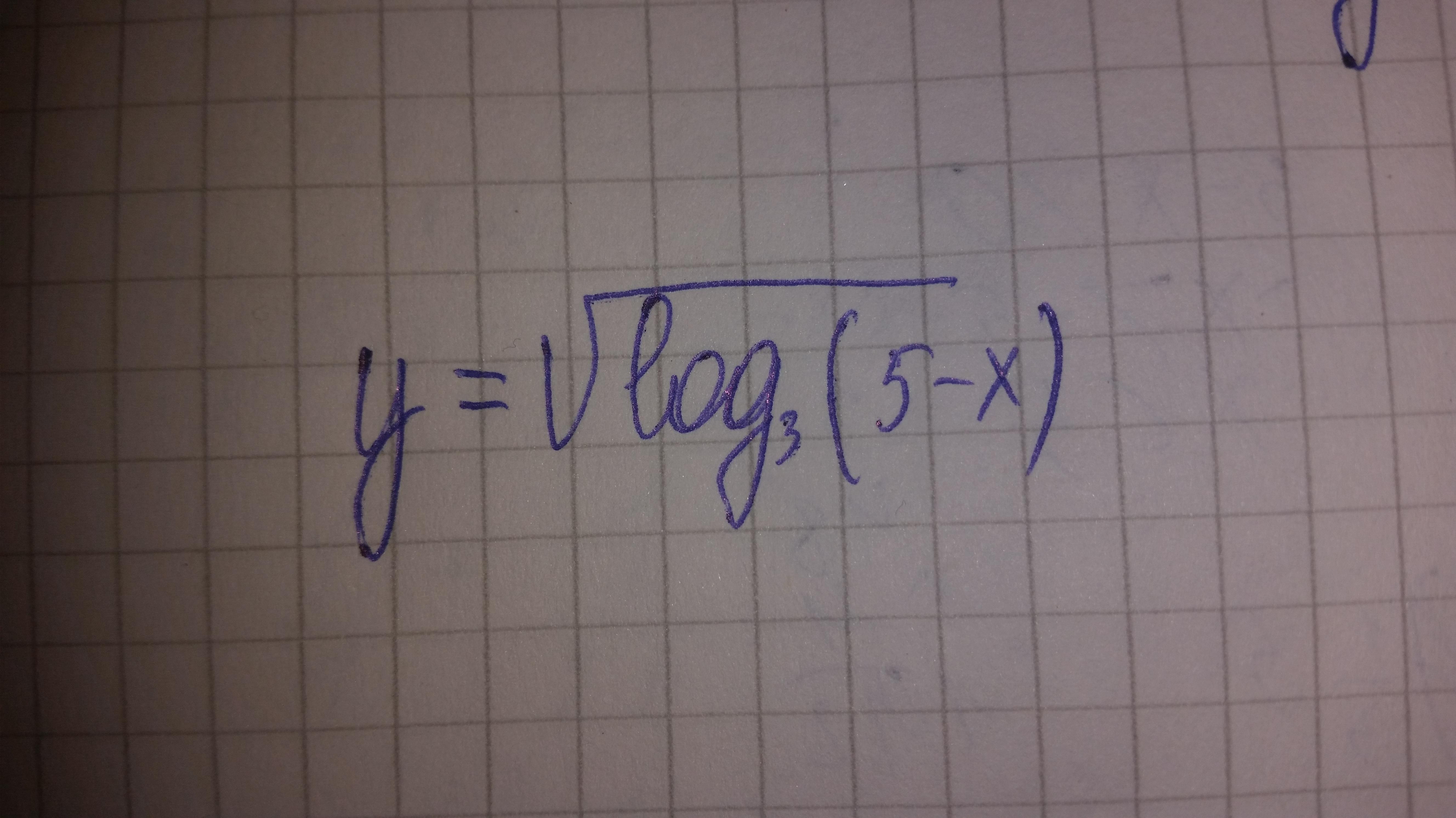 Найти область определения функции, логарифма, спасибо?